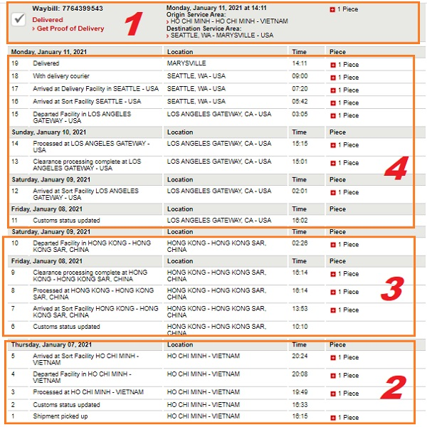 tracking number dhl express