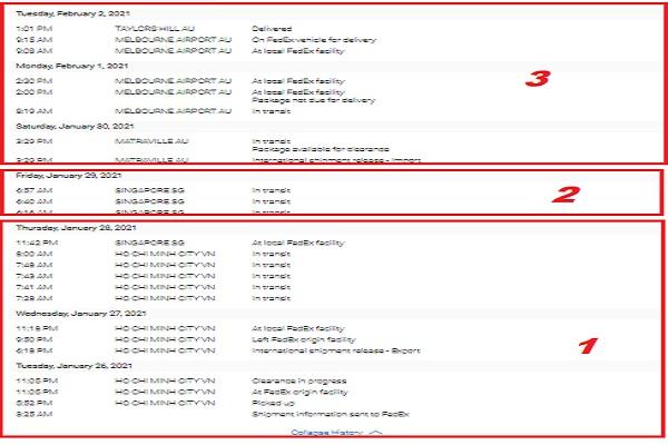 tracking number FedEx express thong tin van chuyen
