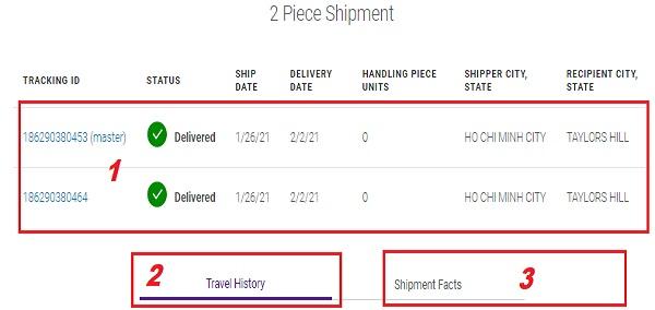 tracking number FedEx express thong tin
